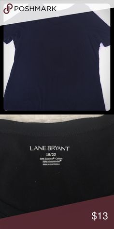{ Lane Bryant} LBT Little Black Tee Size 18/20. Cut to flatter your curves, this Lane Bryant tee is an essential wardrobe staple. Sleeves hit just above the elbow. Looks great with jeans, skirts and shirts. Like new, worn once, no fading. No stains, no damage. Machine-washable. Smoke-free home. Lane Bryant Tops Tees - Short Sleeve