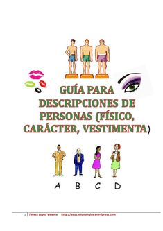 Guia De Adjetivos Para Descripciones De Personas by Teresa López via slideshare