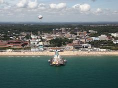 Bournemouth - Towns & Villages in Bournemouth, Bournemouth Bournemouth Beach, South East England, British Seaside, Sea Colour, Battle Of Britain, Aerial View, Great Britain, Hampshire, Places To Visit