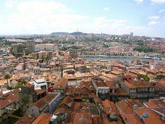 On top of the Clérigos tower, Porto, Portugal