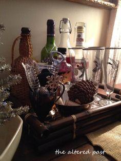 Vintage barware, duck glasses for home bar