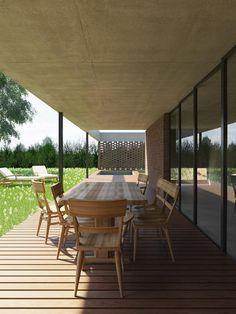 Casa B: Casas de estilo moderno por D+D Studio