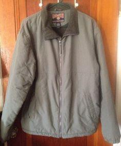 Duluth Trading CO Full Zip Nylon Fleece Lined Jacket Size Mens Large #DuluthTradingCo #FleeceJacket