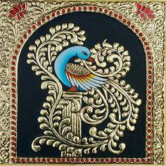 Mysore Painting, Tanjore Painting, Buddha Sayings, Pencil Art Drawings, Types Of Art, Murals, Art Work, Peacock, Ss