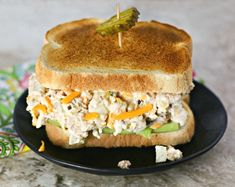 Best Ever Tuna Salad. The Best Ever Tuna Salad is tangy creamy and delicious with a totally surprising ingredient! Tuna Recipes, Sandwich Recipes, Seafood Recipes, Low Carb Recipes, Cooking Recipes, Seafood Dishes, Salad Recipes, Healthy Recipes, Easy Tuna Salad