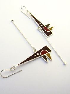 Sterling Silver Earrings  Brown colors  by maldonadojoyas on Etsy, $68.00...WOW, these are awesome...