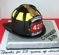 Check out this fully edible cake created by a wife of a firefighter in Fairfax, VA