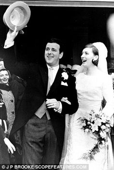 Terry Wogan at his April 1965 wedding to model, Helen Joyce. Irish Wedding, Wedding Bride, Wedding Blog, Celebrity Wedding Dresses, Celebrity Weddings, Terry Wogan, Michelle Phillips, Vintage Bridal, Vintage Weddings