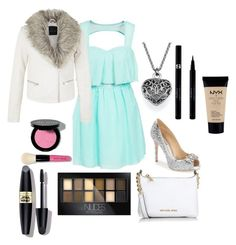 """Going to a play/recital/dance recital"" by carolinag-dance ❤ liked on Polyvore featuring мода, Badgley Mischka, Michael Kors, Maybelline, Bobbi Brown Cosmetics, Sisley, Max Factor, NYX, women's clothing и women"