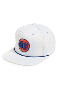 Men s Mitchell   Ness  New York Knicks  Acid Wash Snapback Hat - Blue d586fdcfe49