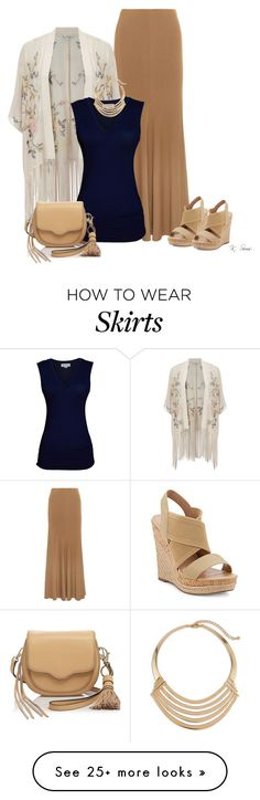 """""""Long Skirt"""" by ksims-1 on Polyvore featuring Donna Karan, Charles by Charles David, Miss Selfridge, Velvet by Graham & Spencer, Rebecca Minkoff and Chico's"""