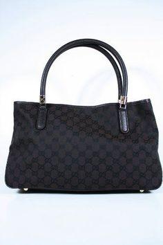 ec536e1493 Gucci Handbags Dark Brown Fabric and Dark Brown « Clothing Impulse  #guccihandbagsnz