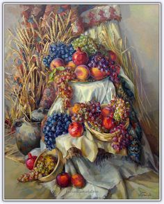 Meruzhan Khachatryan (1980 - ....) | Ermeni Ressam - Forum Gerçek Still Life Drawing, Still Life Art, Fairy Art, Armenia, Pomegranates, Art Drawings, Wine Cellars, Hampers, Picture Wall