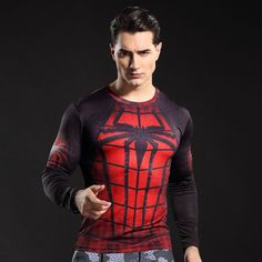 The unique Compression Crossfit Gear Spider-man Red Suit Gym Rashguard  -  This longsleeve looks like natural superhero gear! Fits perfectly rash guard tee shirt is ideal for sport and daily usage. This shirt contains lycra, which allows  material  stretch to the several sizes and comes back to normal size. Perfectly breath tissue, the color doesn't fade over time.  Check more at https://idolstore.net/shop/apparels/sportswear/compression-crossfit-gear-spider-man-red-suit-gym-rashguard/