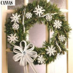 plastic canvas snowflake patterns free | Plastic Canvas Snowflakes & Christmas Bow Ornament Patterns ...
