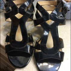 Franco Sarto size 7M hells all man made material Great condition worn many times Please see pictures for condition feel free to make an offer. Have fun shopping! Franco Sarto Shoes Heels