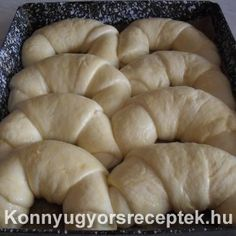 Baby Food Recipes, Cake Recipes, Cooking Recipes, Bread Dough Recipe, Hungarian Recipes, Bread Rolls, Good Food, Food And Drink, Tasty