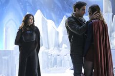 "*Ignores queenly 3rd wheel in BG because Kara and Mon-El are having a moment* Kara/Supergirl, Mon-El, and Queen Rhea of Daxam in Supergirl 2x17 ""Distant Sun"" promotional photos. Words cannot express how ready I am to see if Rhea's a bit of a Mommie Dearest like I think she might be. Supergirl Season 2 has been such a blast! So glad I gave it another shot :) 