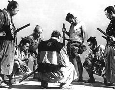 """""""The Seven Samurai"""". An Akira Kurosawa classic. Remade as an American Western as """"The Magnificent Seven"""" by John Sturges. I remember watching the entire movie in one sitting with my boys."""