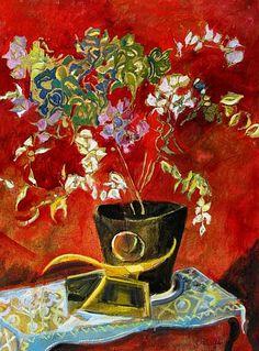 Judy Cassab  Red Still Life  2008