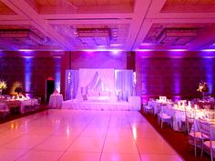 WHITE DANCE FLOOR, LARGE PANEL,  JERSEY CITY HYATT...MAKES ANY BALLROOM BRIGHTED AND MORE ELEGANT LOOKING
