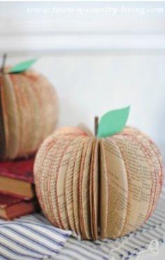 Pumpkins and apples.
