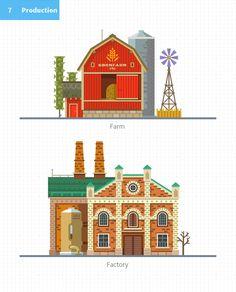 Costruisci la tua città, KIT vettore appartamento Behance