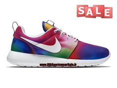 buy online 0acc6 67cdc Nike Wmns Roshe One Print - Chaussures Nike Running Pas Cher Pour  Femme Enfant Violet basket-ball Blanc Cramoisi Total