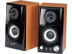 GENIUS SP-HF500A 14-watt Two-Way Hi-Fi Wood Speakers