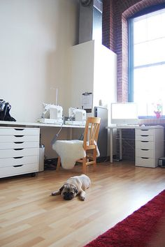 Too much white for me, but nice drawers with lots of counter space!