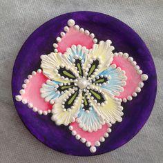 Mini quadro com mandala de flor