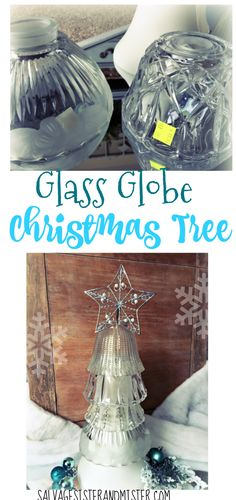 Glass Globe Christmas Tree Glass globe christmas trees from thrifted globes. Old discarded glass fixtures can be upcycled into this easy christmas decor. Very inexpensive ot make . You can do this permanently or temporarily. Simple Christmas, All Things Christmas, Christmas Home, Christmas Crafts, Christmas Decorations, Christmas Trees, Christmas Goodies, Christmas Wishes, Vintage Christmas