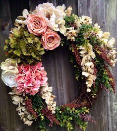 Made to order spring or summer grapevine wreath. on Etsy, $60.00 - http://www.diyprojectidea.net/made-to-order-spring-or-summer-grapevine-wreath-on-etsy-60-00
