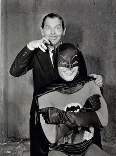 "arcaneimages: "" Milton Berle & Batman (Adam West) """