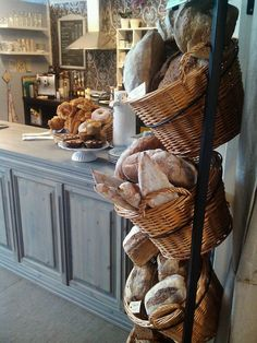 bread shop Rustic coffee shop decoration id - bread Rustic Coffee Shop, Coffee Shop Bar, Coffee Shop Design, Coffee Shops, Coffee Coffee, French Coffee Shop, French Cafe, Bakery Store, Bakery Cafe