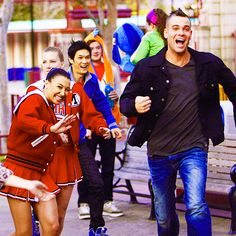 Lots of Glee Glee Cast, It Cast, Brittany And Santana, Mark Salling, Dianna Agron, Still Love You, Dylan O, Just Dance, The Last Airbender