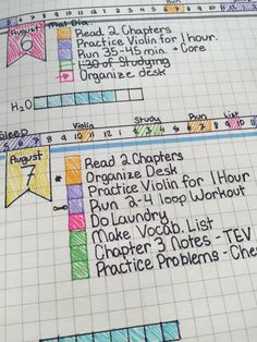 Study Hard, Bullet journal one week in. Bullet Journal Book, Planner Bullet Journal, My Journal, Bullet Journal Inspiration, Bullet Journals, Journal Ideas, Calendar Journal, Study Inspiration, Agenda Planning