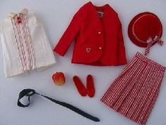"Vintage ""Skipper School Girl ""#1921 (1965 - 1966) 