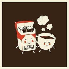 coffee, cigarette, and coffe image