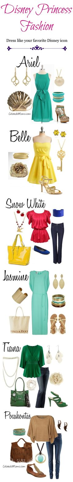 Disney character-inspired outfits. I love these!