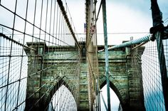 Le Brooklyn Bridge - New York, Etats-Unis