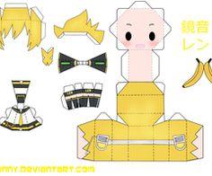 Kagamine Papercraft por desubunny on deviantART Len