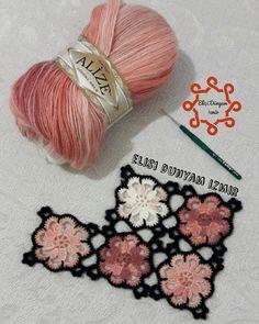 Bu Modele De Beraber Is - Diy Crafts Gilet Crochet, Crochet Fabric, Crochet Shawl, Crochet Flowers, Crochet Lace, Vintage Crochet, Crochet Motifs, Granny Square Crochet Pattern, Crochet Squares