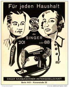 Original-Werbung/ Anzeige 1938 - SINGER NÄHMASCHINEN - ca. 90 x 115 mm