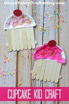 Popsicle Stick Cupcakes - Kid Craft