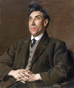 The poet W.H. Davies by Augustus John