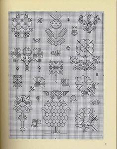 ru / Фото - Wilkins - Beginner's Guide to Blackwork - Nice-Nata-san Kasuti Embroidery, Cross Stitch Embroidery, Embroidery Patterns, Cross Stitch Patterns, Blackwork Cross Stitch, Cross Stitch Bookmarks, Cross Stitch Flowers, Embroidery Techniques, Pattern Art