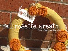 Guest Project -- make an Autumn Rosette Wreath!