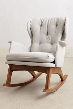 a chic modern rocking chair // #nursery #rocker