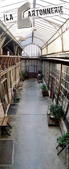 La Cartonnerie - 159 rue Saint Maur et 12 rue Deguerry 75011 paris.  looks like a very interesting place!